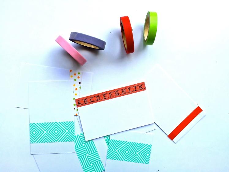 No podían faltar los famosos Washi Tapes. Estos los compre por Ebay desde Corea, son lindos y versátiles. También estoy incluyendo unas tarjetas con otros diseños de Washitape, para que puedan usarla como deseen.